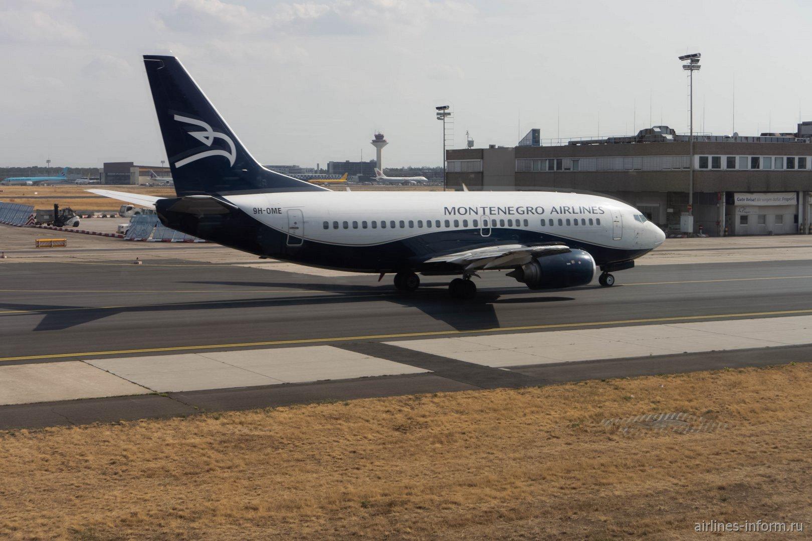 Боинг-737-500 (9H-OME) авиакомпании Montenegro Airlines в аэропорту Франкфурта