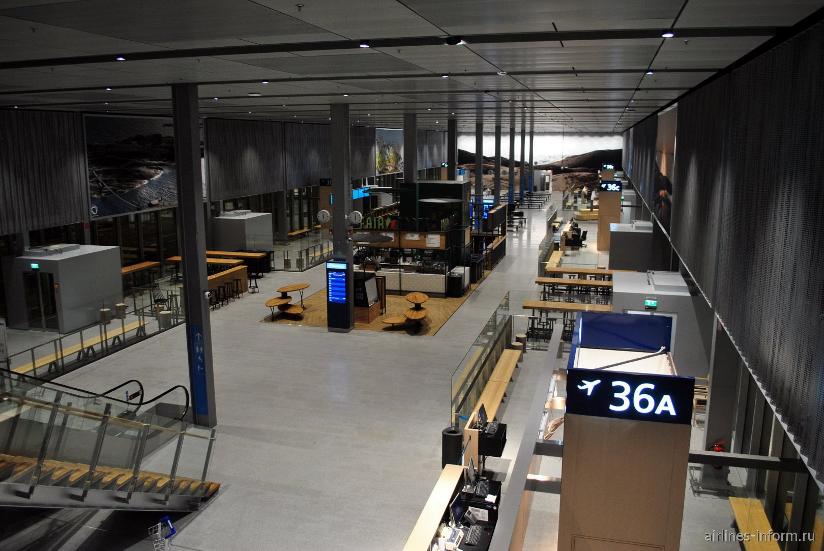 В зоне вылета международных рейсов терминала Т2 аэропорта Хельсинки