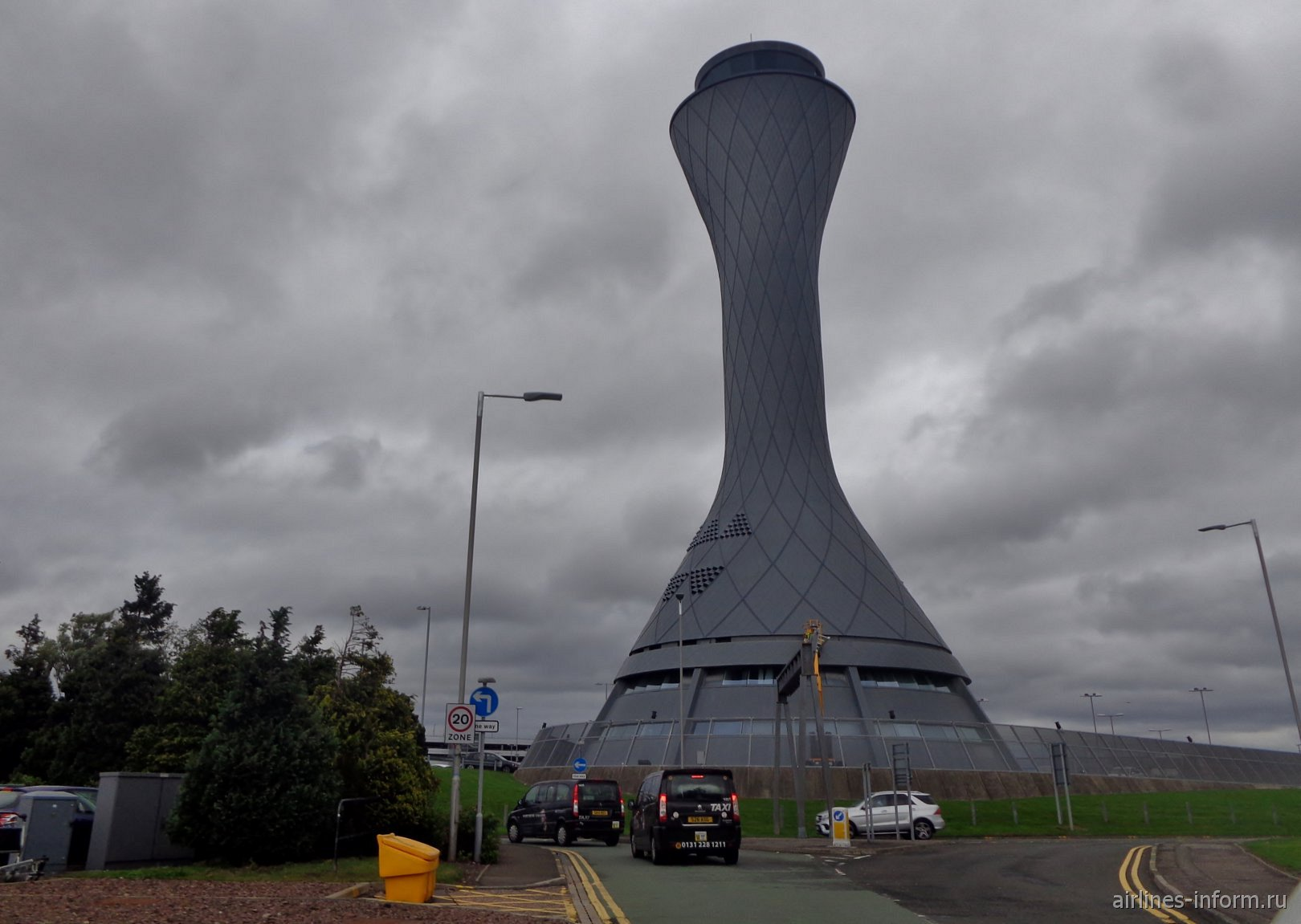 Диспетчерская башня аэропорта Эдинбург