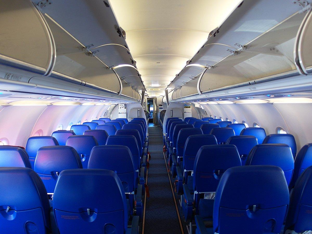 Салон самолета Airbus A321 авиакомпании