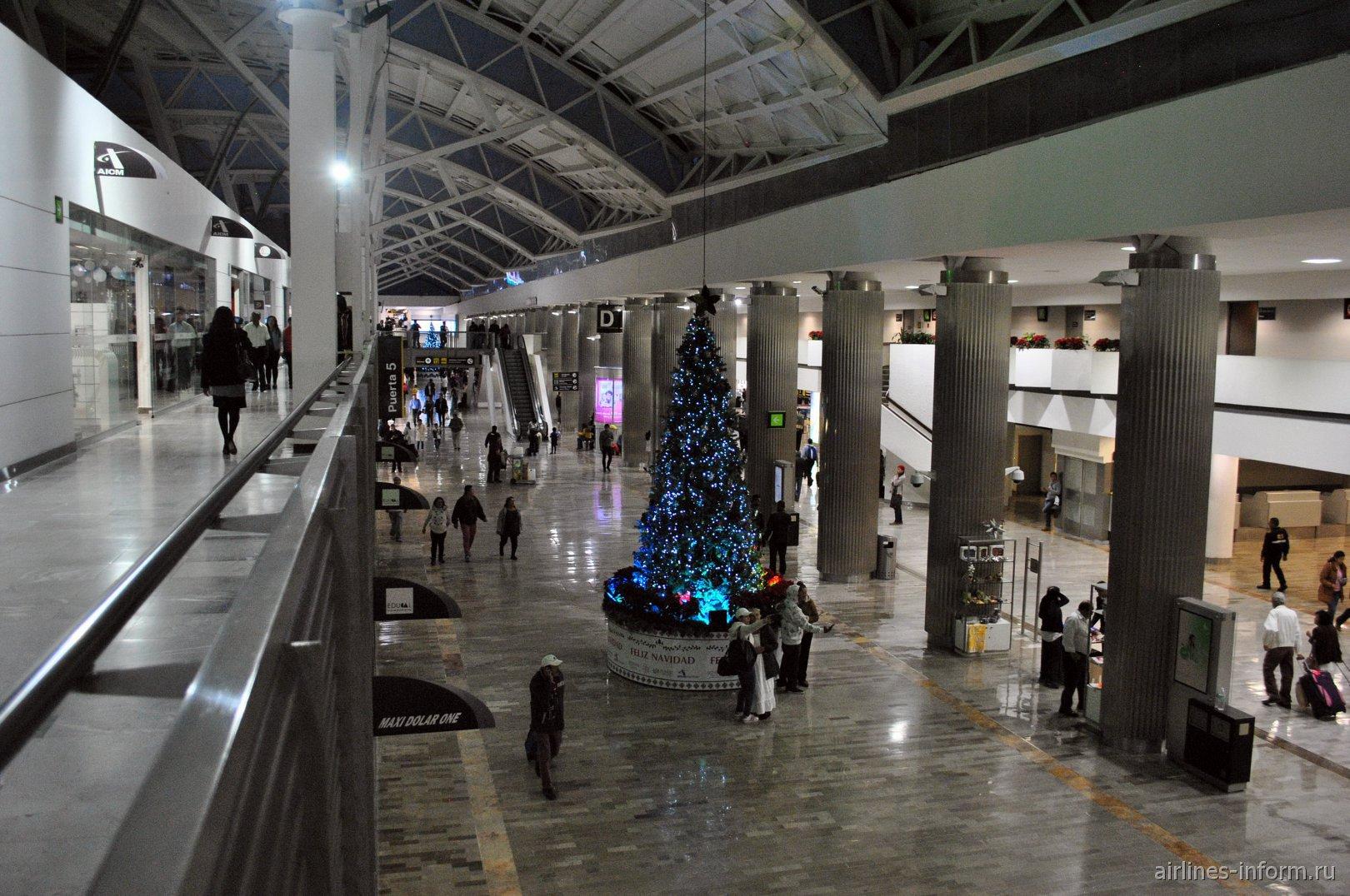 Зал D в терминале Т1 аэропорта Мехико Бенито Хуарес