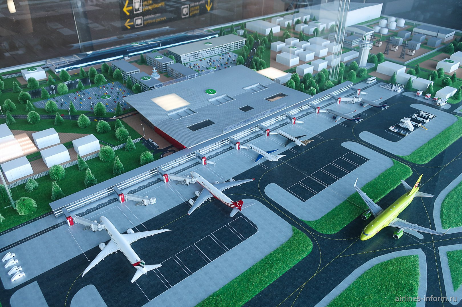 Макет нового пассажирского терминала аэропорта Краснодар Пашковский