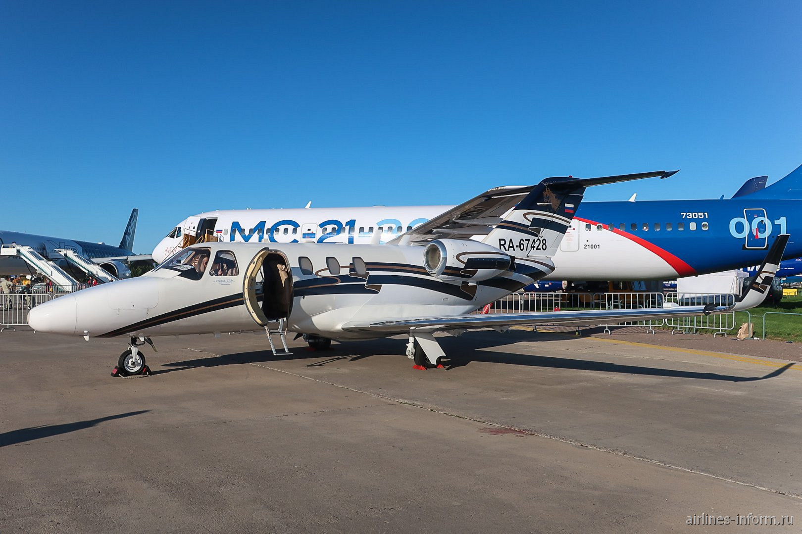 Бизнес-джет Cessna 525 Citation на авиасалоне МАКС-2019