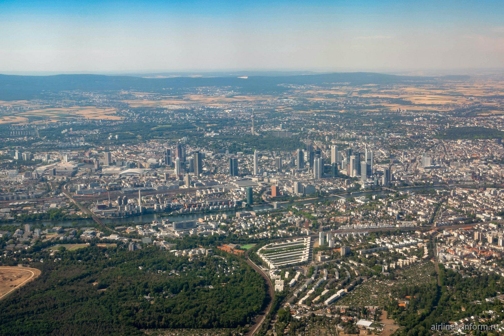 Город Франкфурт-на-Майне в Германии