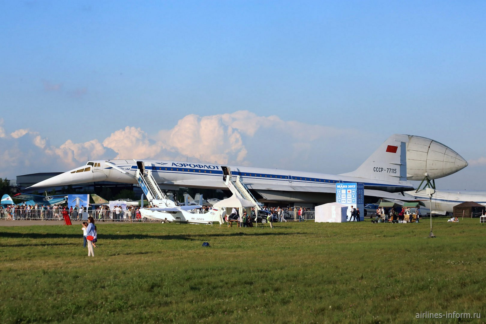 Самолет Ту-144 на авиасалоне МАКС-2017
