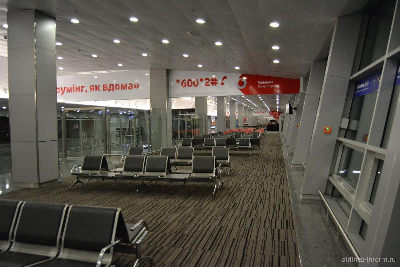 В чистой зоне терминала Д аэропорта Борисполь