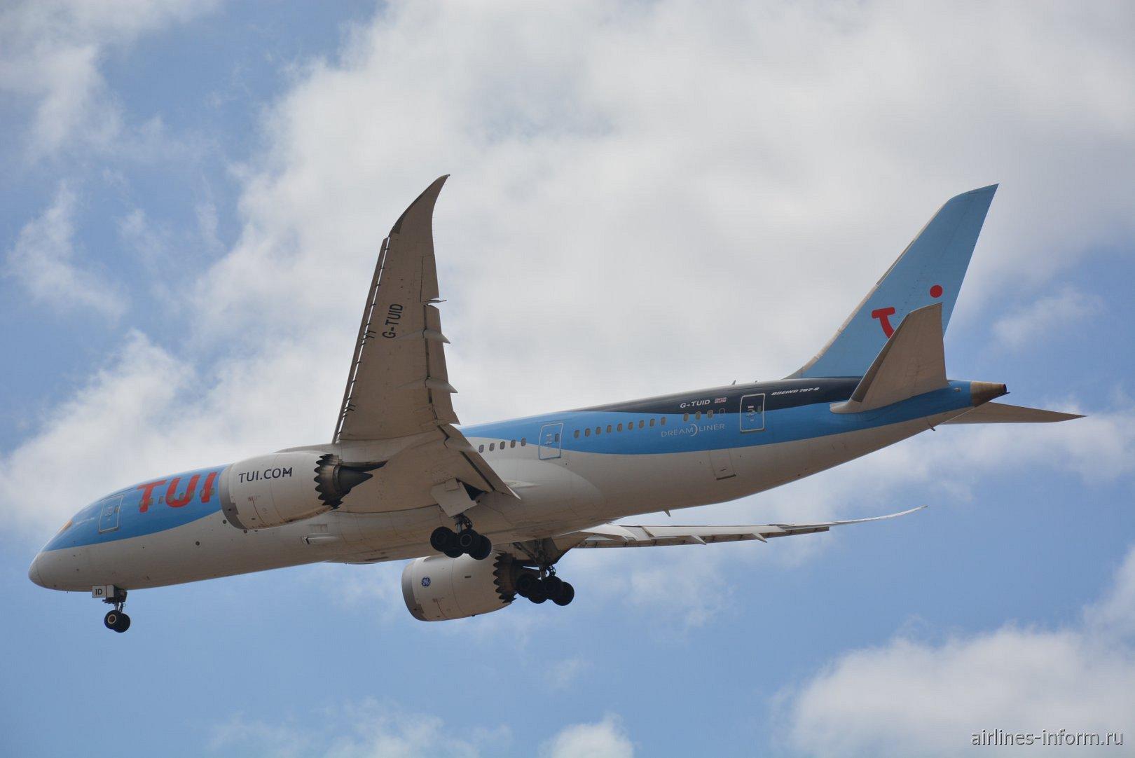 Boeing 787-8 с номером G-TUID авиакомпании Thomson Airways