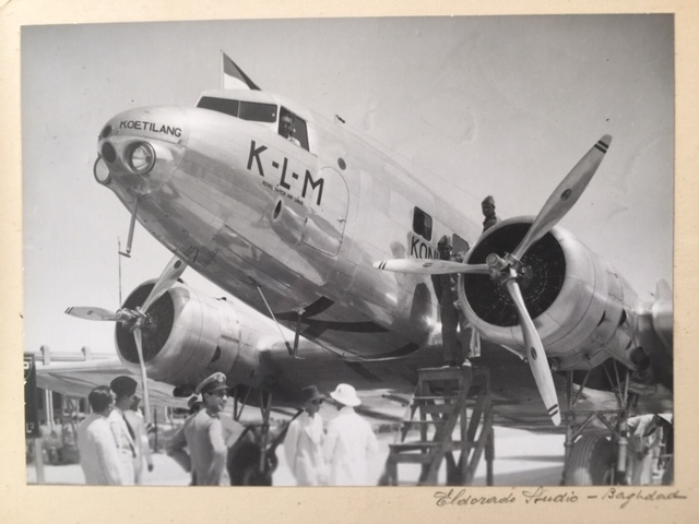 Douglas DC-2 of KLM in Baghdad Airport, Iraq (I found this among old family photos)