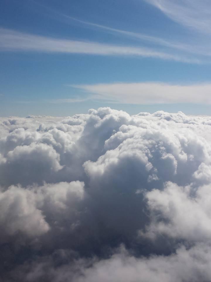 Фото облаков во время перелета Симферополь-Москва