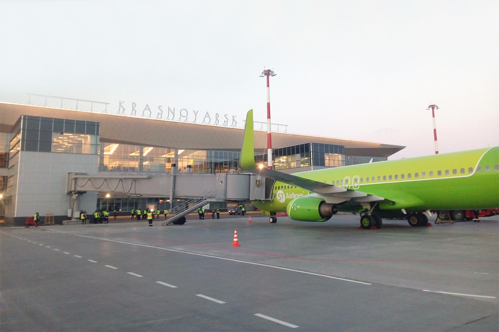 Новый терминал международного аэропорта Красноярск с телетрапами