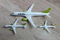 Herpa: модели самолета CS-300 (Airbus A220-300) авиакомпании airBaltic