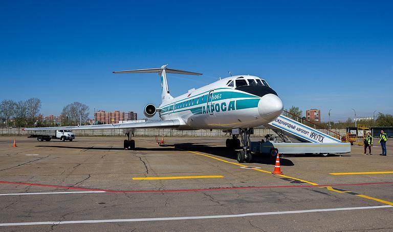 20.05.19 Прощаемся с Ту-134Б-3 Алросы в Иркутске