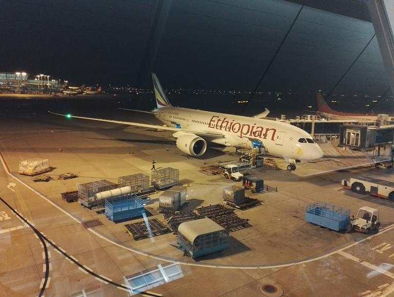 Ethiopian Airlines на Boeing 787 из Сеула в Гонконг