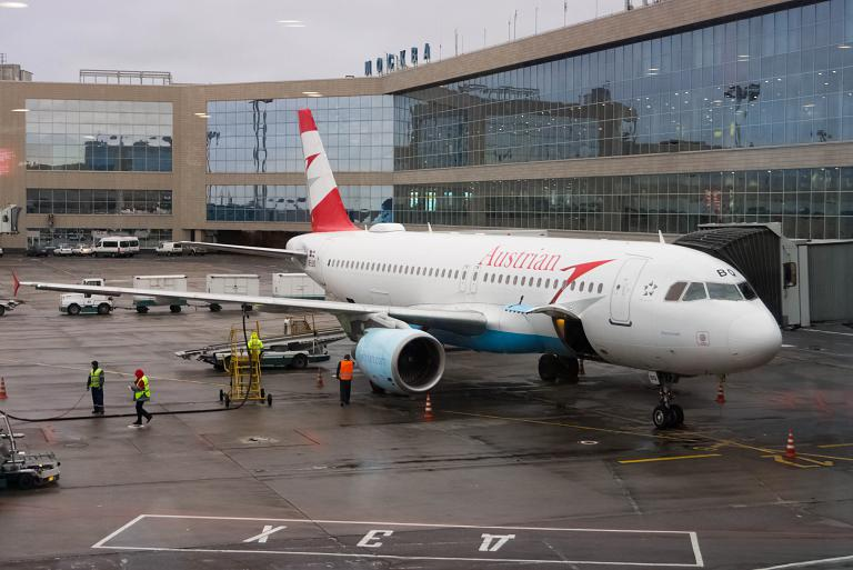 We fly for your smile. Moscow - Vienna OS602 Austrian Airlines