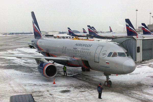 Из заснеженного SVO в дождливый KRR  вместе с Aeroflot Airbus A319
