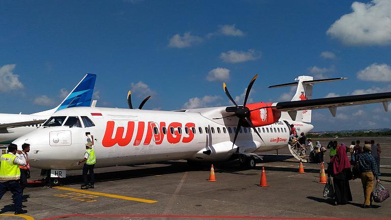 С Бали (DPS) на Ломбок (LOP). 20 минут в небе на ATR-72, или мой самый короткий перелет.