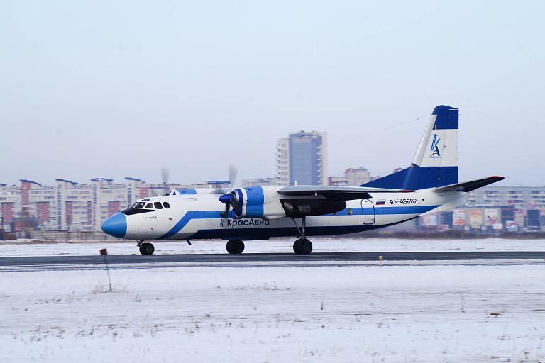 Открытие рейса Ханты-Мансийск - Омск - Тюмень. Авиакомпания Красавиа, Ан-24РВ, RA-46682