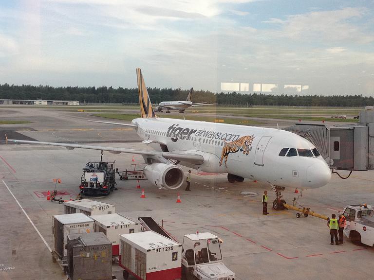 Сингапур - Бангкок, рейс TR 2114 а/к Tigerair
