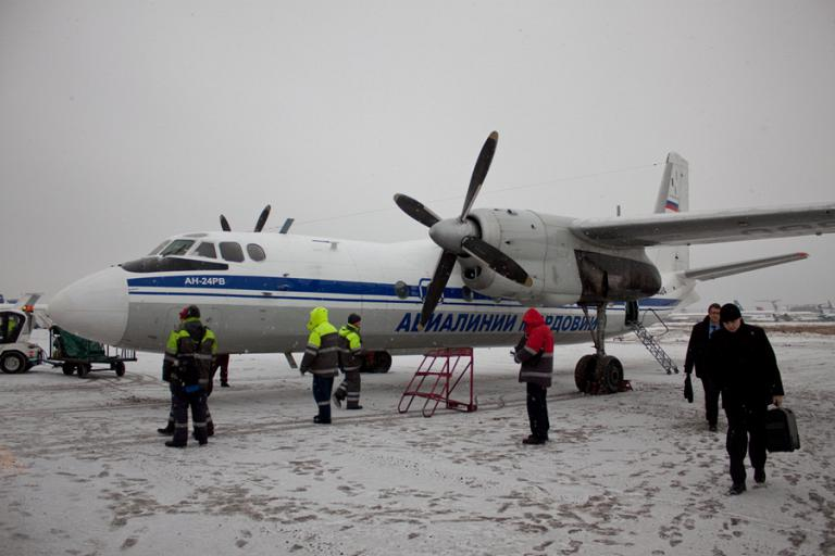 Flight on an An-24 of Mordovian Airlines
