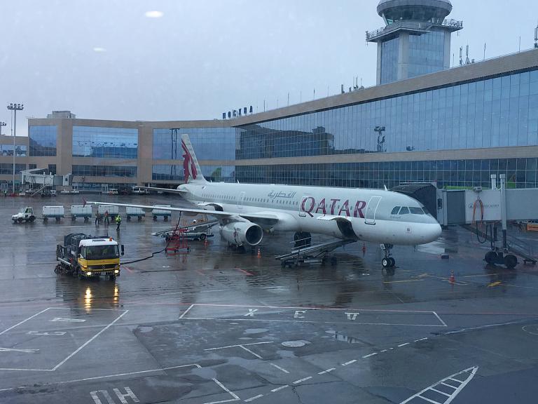 Встретимся в Дохе. Москва-Пхукет с Qatar Airways. Часть-1, Москва-Доха А321