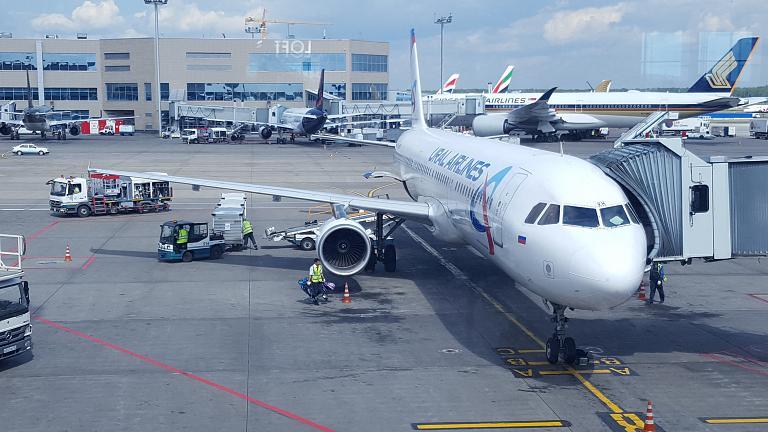 Симферополь - Москва. Уральские авиалинии Airbus A321 (VQ-BKH)