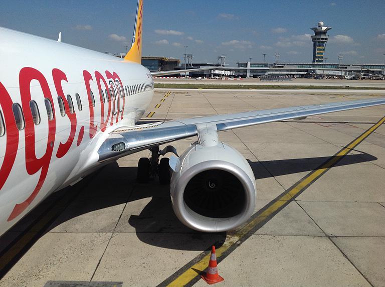 Французские заметки (на Ле Бурже и не только): часть 2  Стамбул Сабиха Гёкчен (SAW) - Париж Орли (ORY) с Pegasus airlines на B738 (TC-CRB)