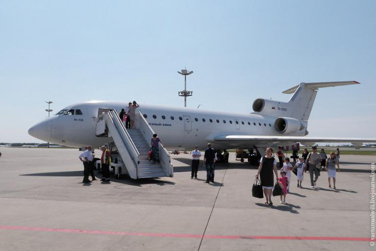 To Chechnya on a Grozny Avia Yak-42