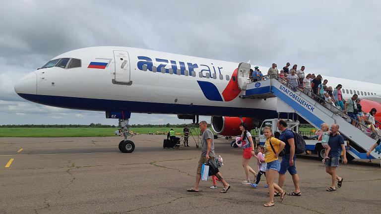 Нячанг (Камрань) - Благовещенск с AZUR air на Boeing 757-200