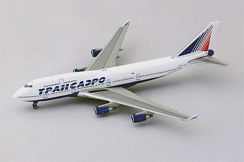 JC Wings: Боинг-747-400 Трансаэро в масштабе 1:400