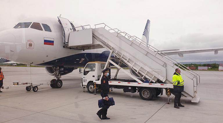 COVIDный рейс длиною в час. Южно-Сахалинск (UUS) - Хабаровск (KHV). а/к Аврора Airbus A319-100 (эконом).