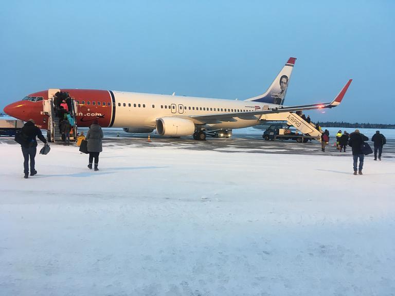Путешествие в Лапландию часть 4 - Киттиля (КТТ) - Хельсинки (HEL)  c Norwegian на Б738 (EI-FVN)