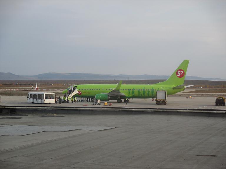 Командировка в Санкт-Петербург. Часть 1. Чита (Кадала) - Москва (Домодедово) на Boeing-737-800 с S7