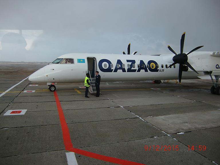 CIT- AKX: три часа на Бомбардье Dash8 и немного о музейной летающей мишени.