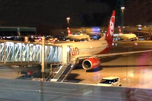 Цюрих - Берлин, Air Berlin. Зимнее путешествие.