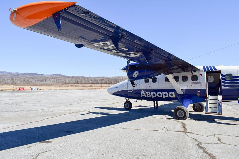 Владивосток - Кавалерово, Аврора, Bombardier DHC-6-400, RA-67283 (В. Сайбель)