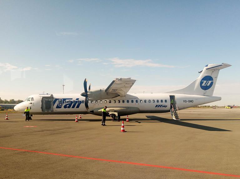Омск - Тюмень, Ютэир, ATR 72-500, VQ-BMD