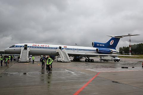 Москва-Минск на Ту-154М Белавиа