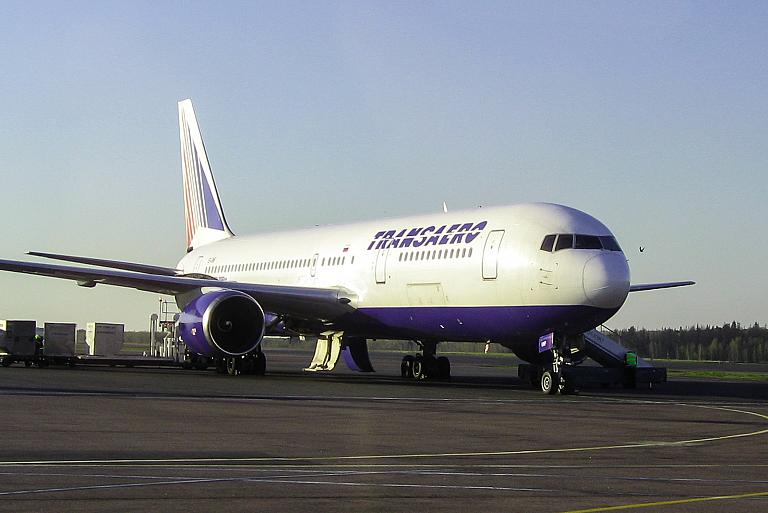 Гонконг-Москва на Боинге-767-300 Трансаэро