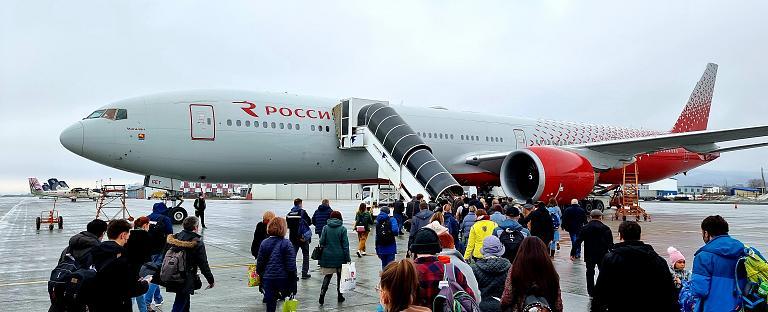 Южно-Сахалинск (UUS) - Москва (SVO) Boeing 777-300 EI-GET