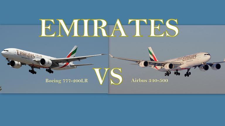 Airbus 340-500 VS Boeing 777-200LR на маршруте SZE-DXB-DME