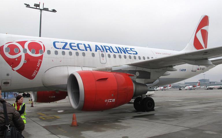 Прага-Москва с Чешскими авиалиниями на А319