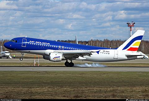Полет Кишинев(KIV)-Москва Домодедово (DME) С Air Moldova (А320)