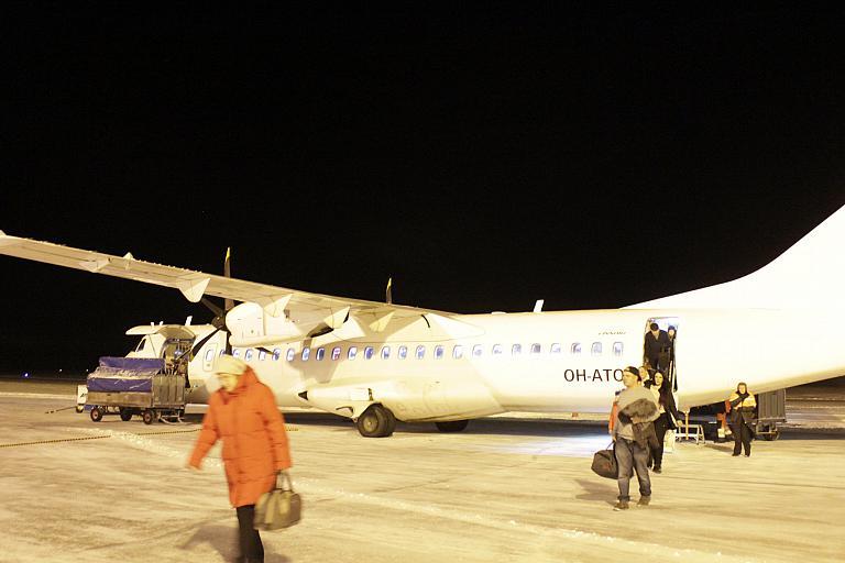 Новогоднее путешествие в Финляндию. Часть 2, региональные авиалинии Финляндии: Хельсинки(HEL)-Каяни(KAJ) с Norra