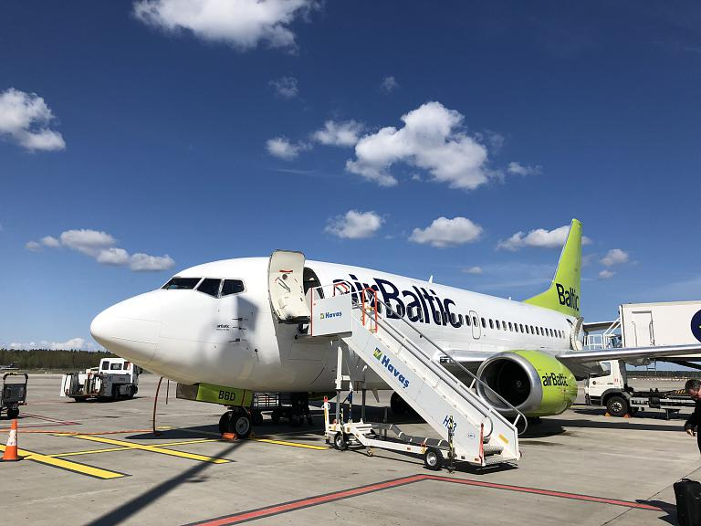 Копенгаген (CPH) - Рига (RIX) на Boeing 737-500 авиакомпании Air Baltic (140 фото)