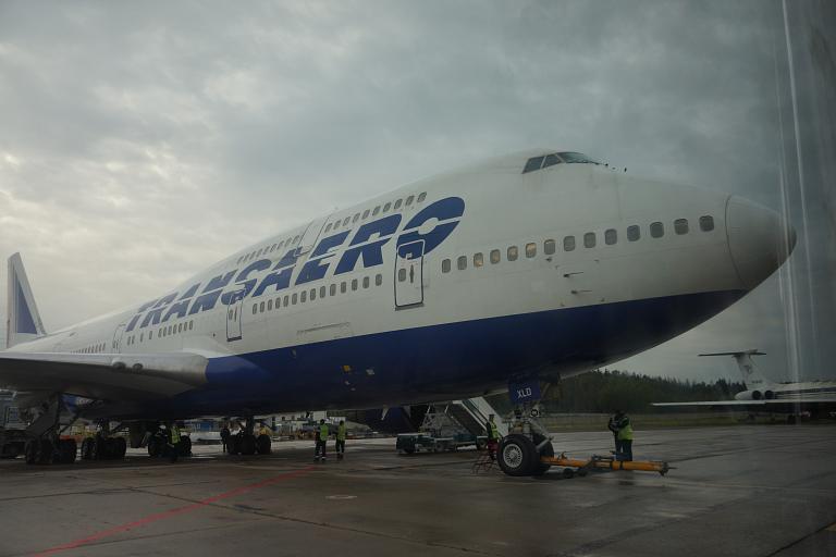 Омск-Москва-Сочи и обратно с Трансаэро. Часть вторая: Москва-Сочи, Boeing 747-400, EI-XLD