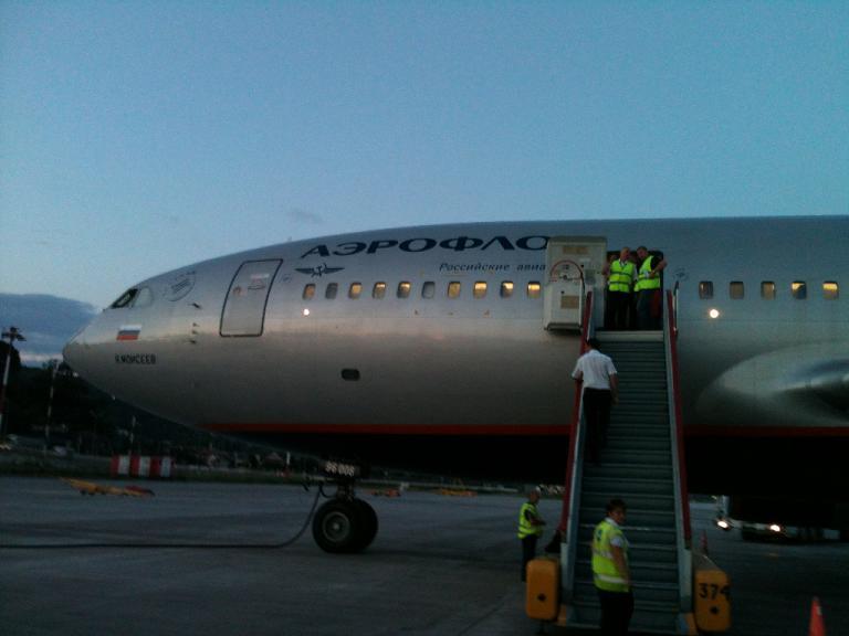 Москва(SVO) - Адлер(AER) на ИЛ-96 вместе с AEROFLOTом
