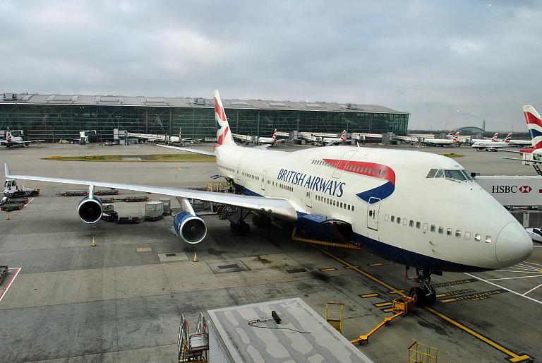 The British Grace & Die Deutsche Schande: Лондон Хитроу (LHR/T5) - Мехико Хуарес (MEX/T1) British Airways BA243 на Boeing 747-400