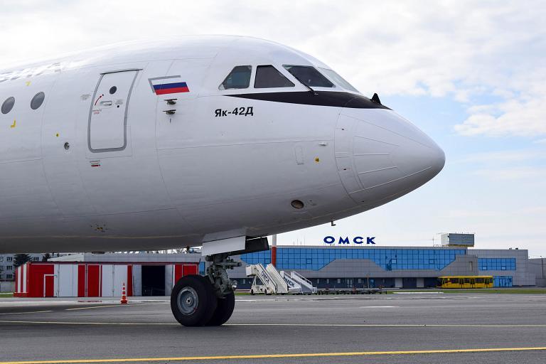 Омск - Ноябрьск, Красавиа, ЯК-42Д, RA-42406