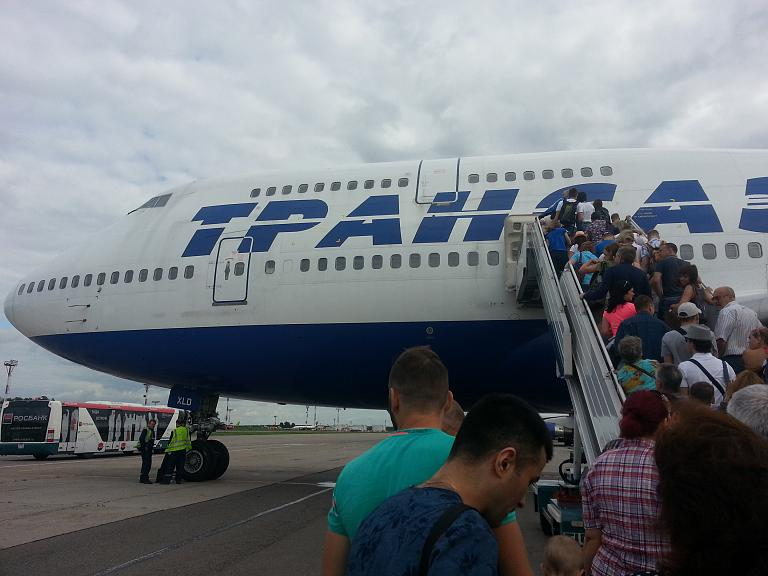 Москва - Симферополь. Boeing 747 - 446 (EI-XLD)