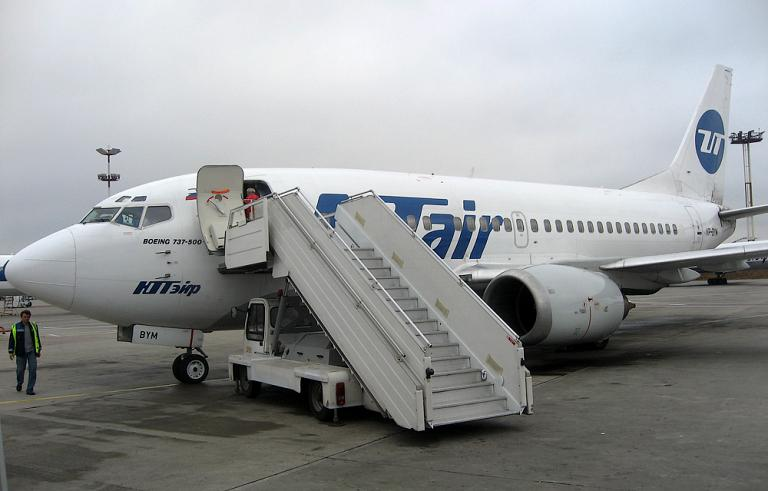 Domestic flight in Russia: Krasnoyarsk–Moscow by UTair